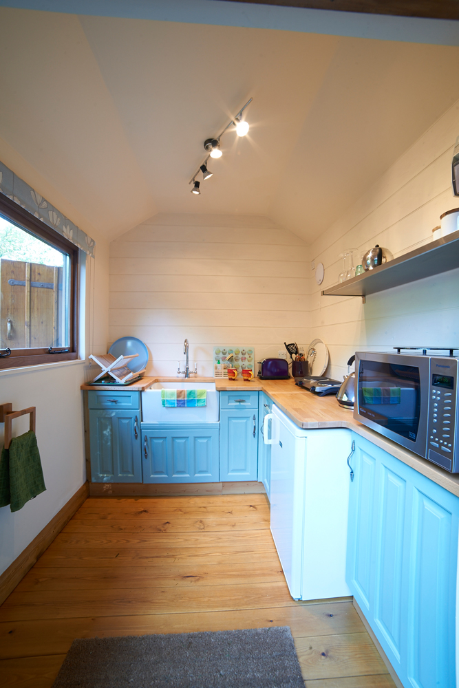 The cabin's lovely kitchen